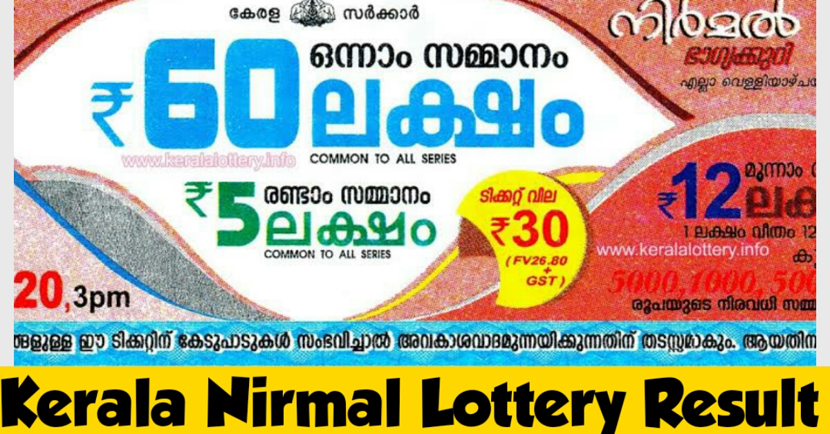 Live Kerala Lottery Result 01.01.2021 OUT || Nirmal NR 205 Result Download