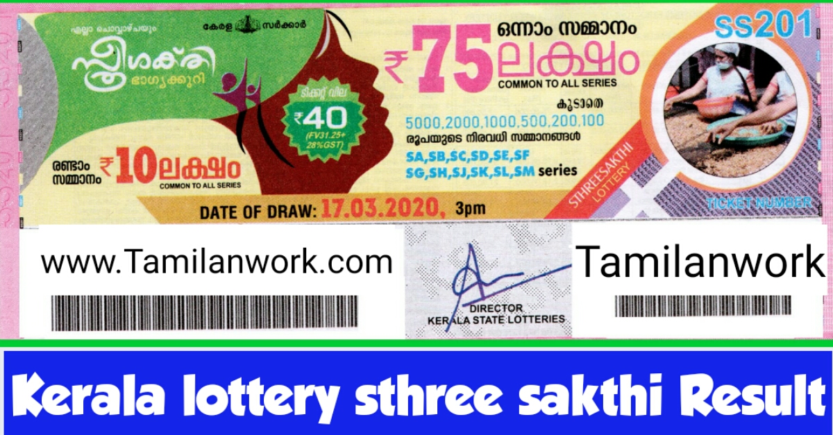 Live Kerala Lottery Result 3.11.2020 OUT | Sthree Sakthi SS 195 Result Download