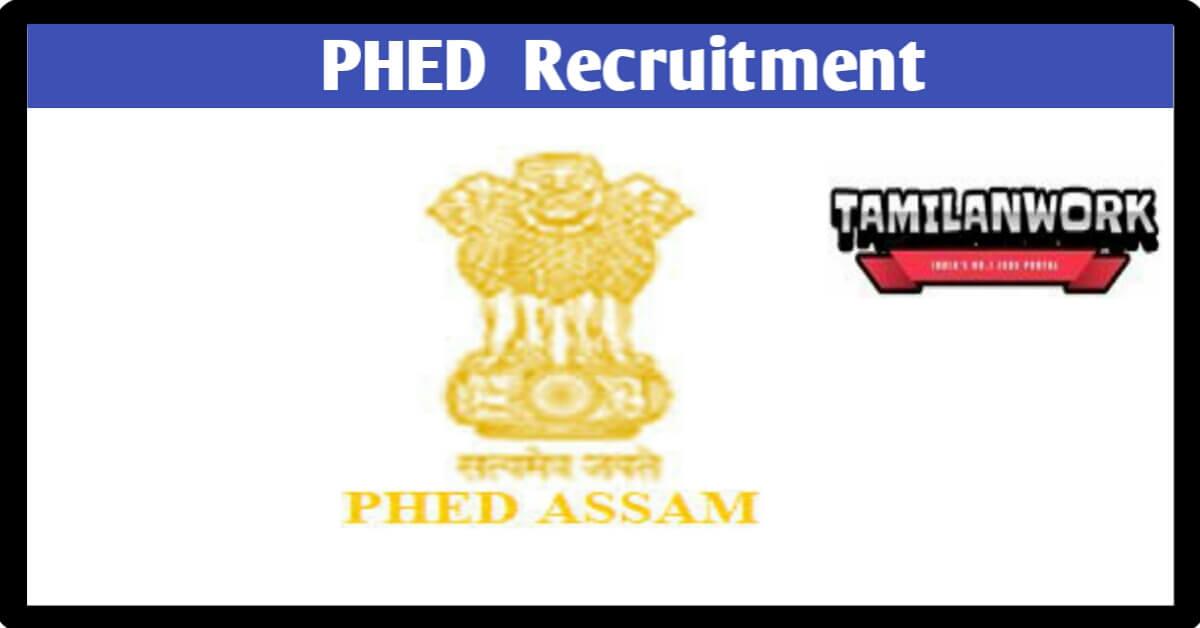 PHED Assam Recruitment