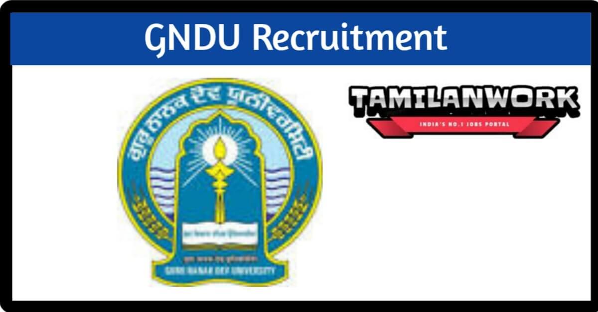 GNDU Recruitment