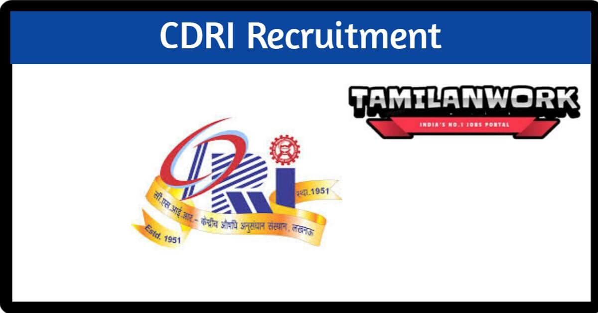 CDRI Recruitment
