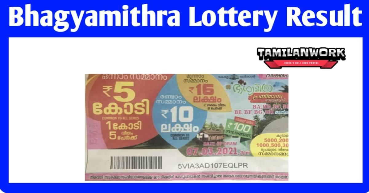 Kerala Lottery Result 20.7.2021