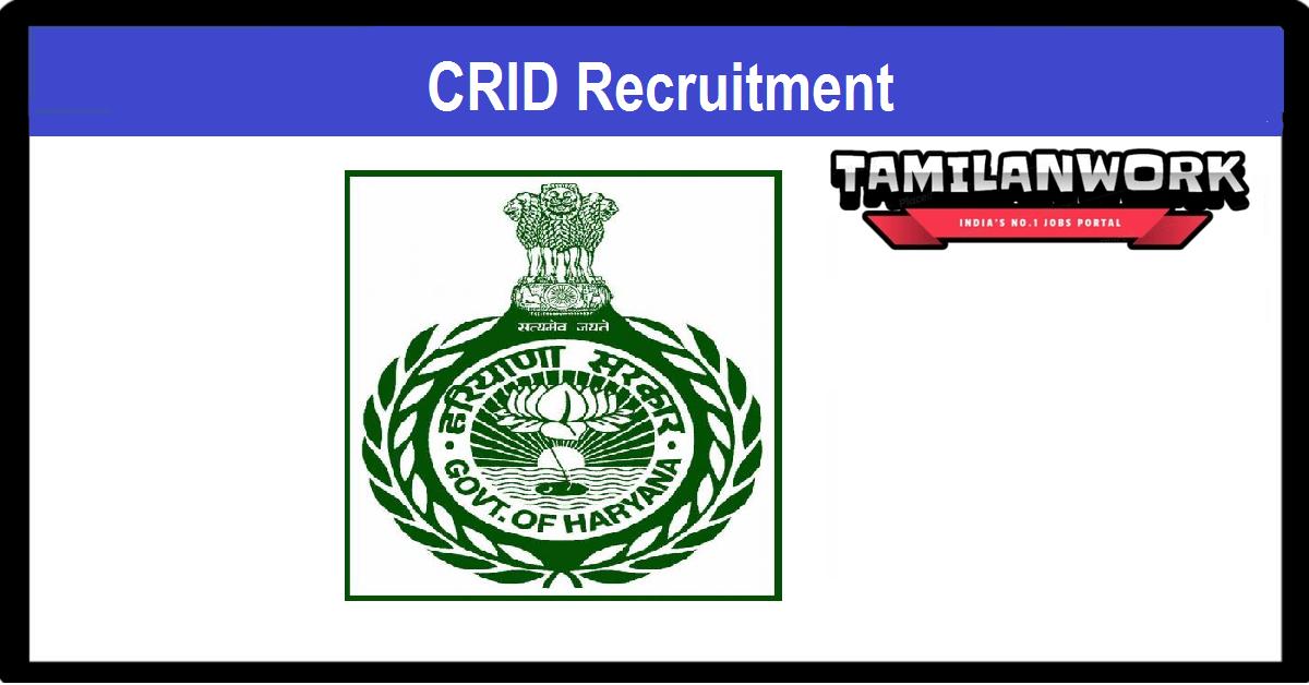CRID Haryana Recruitment